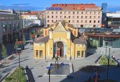 Finland Kuopio: Renoverad saluhall Arkivbild