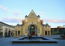 Finland, Kuopio: Vernieuwde Marktzaal Royalty-vrije Stock Foto's