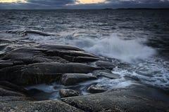 Finland: Kust av Östersjön Arkivfoto