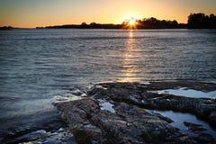 Finland: Kust av Östersjön Arkivbilder