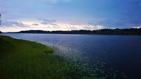 finland lake Royaltyfri Bild