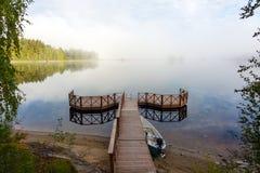 Finland lake landscape Royalty Free Stock Image