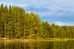 Finland lake landscape Stock Photos