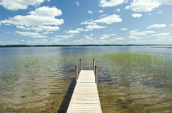 Finland lake pier Royalty Free Stock Photography