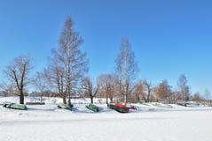 Finland.  Lake Saimaa Royalty Free Stock Photo