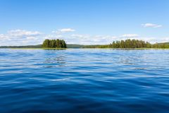 Finland lake scape at summer Royalty Free Stock Images