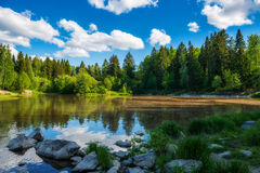Finland. Lake of the woods. Finland Royalty Free Stock Photography