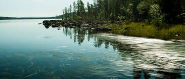 Finland lakeshore Royaltyfria Bilder
