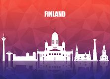 Finland Landmark Global Travel And Journey paper background. Vec. Tor Design Template.used for your advertisement, book, banner, template, travel business or Stock Photography