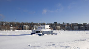 Finland. Lappeenranta. Bevroren meer Saima royalty-vrije stock fotografie