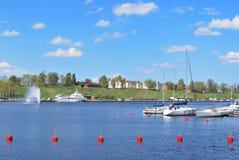 Finland. Lappeenranta hamn royaltyfri foto