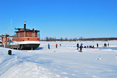 Finland. Lappeenranta harbor in winter Royalty Free Stock Photography