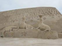 Finland, Lappeenranta, sand sculptures Royalty Free Stock Image
