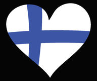 Finland love. Heart with the finish flag, Finland Love Royalty Free Stock Images