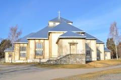 finland Lutheran kyrka i Mikkeli arkivfoto