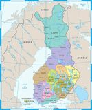 Finland Map - Detailed Vector Illustration. Finland Map - High Detailed Vector Illustration Royalty Free Stock Images