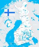 Finland - map and flag illustration. Finland map and flag -  illustration Stock Photography