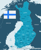 Finland - map and flag illustration. Finland map and flag -  illustration Stock Photo