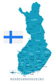Finland - map and flag illustration Royalty Free Stock Photos