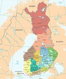 Finland Map - Detailed Vector Illustration. Finland Map - High Detailed Vector Illustration Royalty Free Stock Image