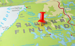 Finland map Stock Photography