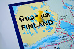 Finland map Stock Images