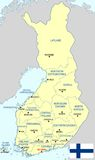 Finland map - cdr format Stock Photography