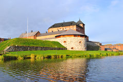 Finland. Middeleeuwse Hameenlinna stock foto