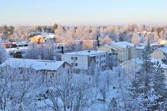 Finland. Mikkeli at sunset Stock Images