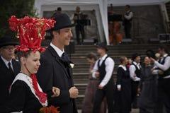 finland mitt- sommarbröllop Royaltyfria Bilder