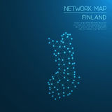 Finland network map. Royalty Free Stock Photography