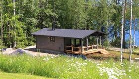 Finland: Nieuwe Sauna Royalty-vrije Stock Afbeeldingen