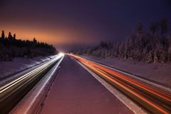 Finland: Northern highway Royalty Free Stock Photos