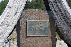 finland O monumento da guerra do inverno Fotos de Stock Royalty Free