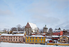 Finland. Old Porvoo in winter Royalty Free Stock Photos