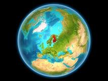 Finland op aarde Royalty-vrije Stock Afbeeldingen