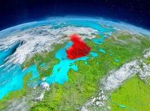 Finland på jord Arkivfoton