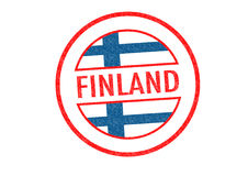 FINLAND. Passport-style FINLAND rubber stamp over a white background Stock Photography