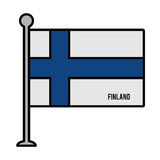 Finland patriotic flag isolated icon Royalty Free Stock Image