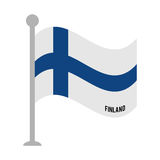 Finland patriotic flag isolated icon Royalty Free Stock Photos
