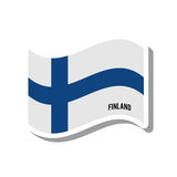 Finland patriotic flag isolated icon Stock Images
