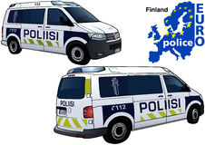 Finland Police Car. Colored Illustration from Series Euro police, Vector Royalty Free Stock Photos