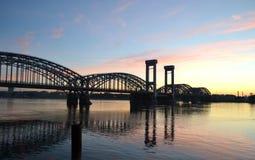 Finland Railway bridge at dawn Royalty Free Stock Image