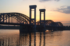 Finland Railway Bridge at dawn Royalty Free Stock Photo