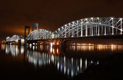Finland Railway Bridge, St. - Petersburg, Russia Royalty Free Stock Photo