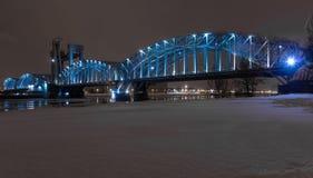 Finland railway bridge, St. Petersburg, Russia Stock Photos