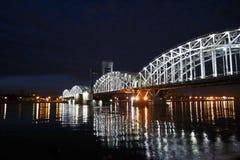Finland Railway Bridge at white night royalty free stock image