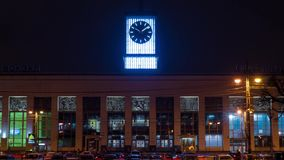 Finland railway station. Sankt-Petersburg, Lenin Square. 4k stock video footage