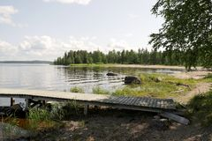 Finland. The recreation Park. Royalty Free Stock Image