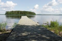 Finland. The recreation Park. Stock Image